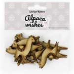 Sticker Kitten Alpaca Wishes Wooden Alpacas | Set of 10