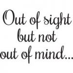 Woodware Just Words Out of sight but not out of mind Stamp Set