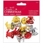 Create Christmas Traditional Bells | Pack of 12