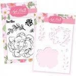 Apple Blossom Peony Stamp & Stencil Bundle
