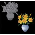 Joanna Sheen Signature Dies Vase of Daffodils