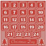 First Edition Die Christmas Craft A Card 6in x 6in Advent Calendar