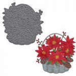 Joanna Sheen Signature Dies Poinsettia Basket | 73mm x 73mm