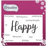 Creative Stamp Set Happy Sentiments Set of 12 | Focal Words Collection