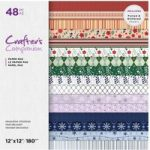 Crafter's Companion 12in x 12in Printed Paper Pad Decorative Christmas | 48 Sheets