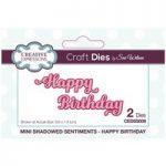 Sue Wilson Die Set Happy Birthday | Mini Shadowed Sentiments
