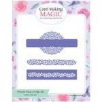 Card Making Magic Die Set Petunia Wrap & Edge Set of 4 by Christina Griffiths