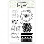 Sticker Kitten Bee Garden Photopolymer Stamp Set | Set of 14