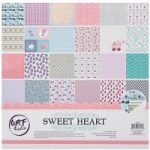 CraftStash Paper Pad Cardstock Sweet Heart 12in x 12in | 24 Sheets