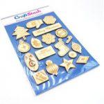 CraftStash Wooden Embellishments – Christmas