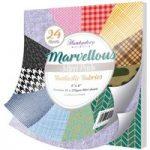 Hunkydory Marvellous Mirri Pad 8in x 8in Fantastic Fabrics | 24 Sheets
