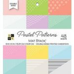 DCWV Cardstock Mat Stack 6in x 6in Pastel Patterns | 48 Sheets