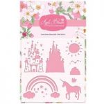 Apple Blossom 6in x 6in Stencil Castle Scene | Enchanted Collection