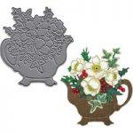 Joanna Sheen Signature Dies Christmas Teapot | 70mm x 75mm