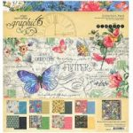 Graphic 45 12in x 12in Collection Pack Papers & Stickers 17 Sheets | Flutter Collection