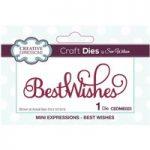 Sue Wilson Die Mini Expressions Best Wishes Sentiment