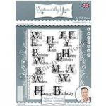 Phill Martin Sentimentally Yours A5 Stamp Set Essential Sentiments Set of 8 | Industrial Blueprint