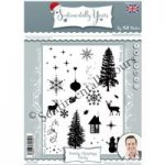 Phill Martin Sentimentally Yours A5 Stamp Set Stately Christmas Extras | Set of 20