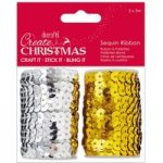 Docrafts Sequin Ribbon (2x5m) – Create Christmas