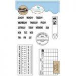 Elizabeth Craft Designs Stamp Set Planner Essentials Calendar | Set of 20