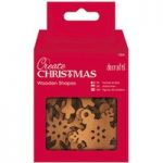 Docrafts Create Christmas Wooden Shapes Snowflakes | Pack of 10