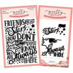 Pretty Quick Inspiring Quotes Friends are Like Stars A6 Stamp & Embossing Folder Bundle