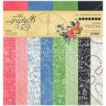 Graphic 45 12in x 12in Paper Pad Patterns & Solids 16 Sheets | Flutter Collection