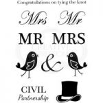 Woodware Clear Stamp Set A Civil Wedding Sentiments