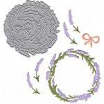 Joanna Sheen Signature Dies Lavender Wreath
