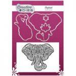 Creative Dies Die & Stamp Set Elephant Set of 5 | Mehndi Collection