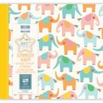 First Edition Scrapbook Album Hey Baby Elephants 8in x 8in | 20 Refillable Pages