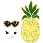 Sizzix Framelits Die Set with Stamps Sunny Pineapple Set of 2 | Katelyn Lizardi