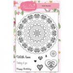 Apple Blossom A6 Stamp Set Heart Mandala   Set of 10