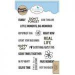 Elizabeth Craft Designs Stamp Set Planner Essentials Family | Set of 18