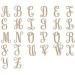 Spellbinders Glimmer Hot Foil Stamp Plates Elegant Monograms Uppercase | Set of 26
