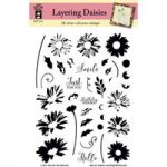 Hot Off The Press – Layering Daisies Silicone Stamps