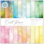 Craft Consortium The Essential Craft Papers 12in x 12in Grunge Light Tones | 30 Sheets