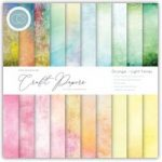Craft Consortium The Essential Craft Papers 6in x 6in Grunge – Light Tones | 40 Sheets