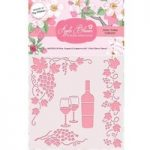 Apple Blossom 6in x 6in Stencil Wine Grapes & Grapevine | Drink Trolley Collection