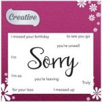 Creative Stamp Set Sorry Sentiments Set of 11 | Focal Words Collection