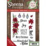Sheena Douglass Deck the Halls A5 Rubber Stamp Set Peace & Joy | Set of 13
