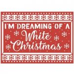 First Edition Die Christmas Craft A Card 5in x 7in White Christmas