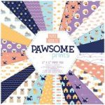 Paper Addicts Paper Pad Pawsome Prints 12in x 12in | 24 Sheets
