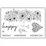 Julie Hickey Designs Stamp Set Spring Delights Floral Sprig | Set of 9