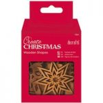 Docrafts Create Christmas Wooden Shapes Mixed Icons | Pack of 10
