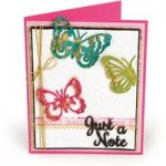 Sizzix Thinlits Die with Embossing Folder Just a Note Butterflies | Courtney Chilson