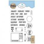 Elizabeth Craft Designs Stamp Set Planner Essentials Months | Set of 25