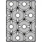 Creative Expressions A5 Stencil Geometric Circles by Lisa Horton