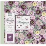 First Edition Scrapbook Album Mariposa Flowers 12in x 12in | 20 refillable pages