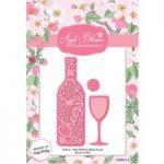 Apple Blossom Die Set Cheers! Wine Bottles & Glass Set of 5